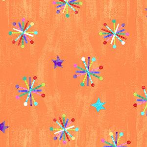 Eric Carle Orange Asterisk Fabric