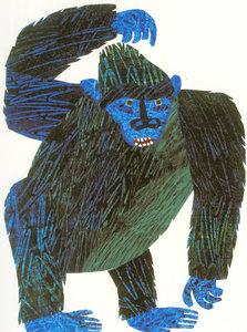 Eric Carle Postcard - Gorilla