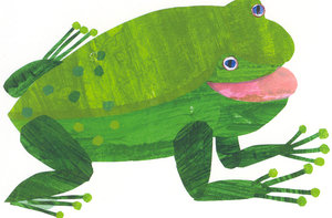 Eric Carle Postcard - Green Frog