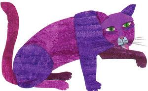 Eric Carle Postcard - Purple Cat