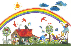 Eric Carle Postcard - Paint a Rainbow