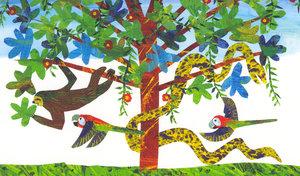 Eric Carle Postcard - Sloth Tree