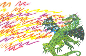 Eric Carle Postcard - Fiery Dragon
