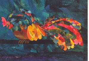 Eric Carle Postcard - Sleeping Rooster
