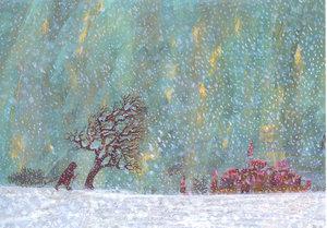 Eric Carle Postcard - Winter's Scene