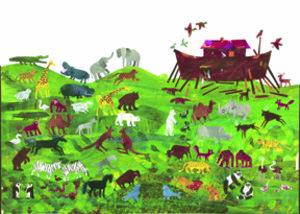 Eric Carle Postcard - Noah's Ark