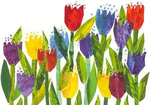 Eric Carle Postcard - Tulips