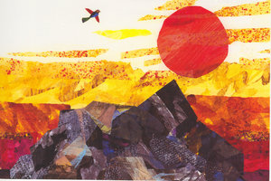 Eric Carle Postcard - Bird and Sun