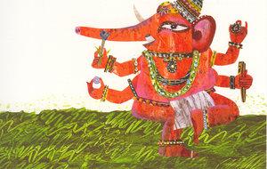 Eric Carle Postcard - Ganesha