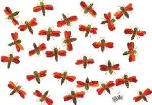 Eric Carle Postcard - Fireflies