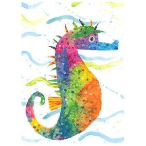 Eric Carle Postcard - Seahorse