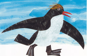 Eric Carle Postcard - Macaroni Penguin