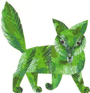 Eric Carle Postcard - Green Fox