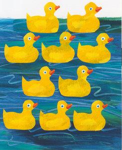 Eric Carle Postcard - Rubber Ducks