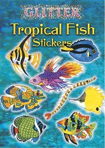 Glitter Tropical Fish Stickers