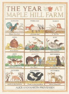 Provensen Book Plate & The Year At Maple Hill Farm - Softcover