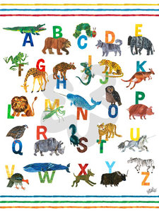 "Eric Carle ABC Canvas Art - Blue 18"" x 24"""
