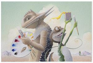 David Wiesner Postcard - Art & Max