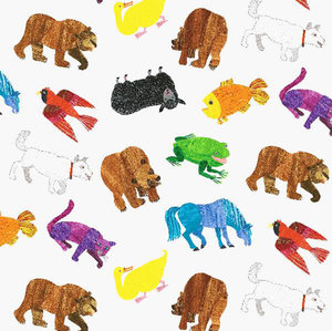 Brown Bear Animals Fabric