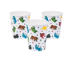 Brown Bear Paper Cups