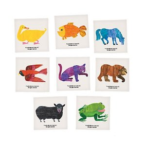 Brown Bear Temporary Tattoo Set