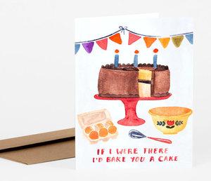 I'd Bake You a Cake Card