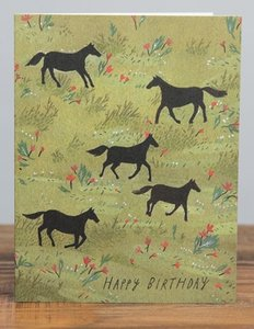 Black Stallion Birthday Card