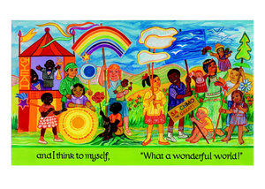 Ashley Bryan Postcard - What a Wonderful World