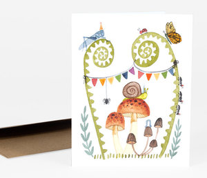 Bug Birthday Party Card