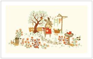 Teagan White Print - Bunny Roo