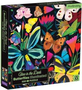 Butterflies Illuminated 500 pc Puzzle