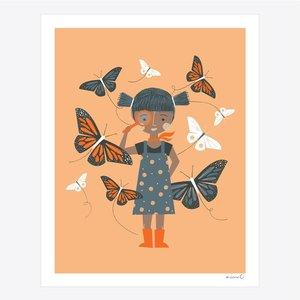 Print-Butterfly Girl