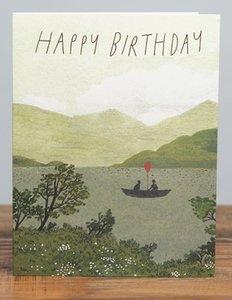 Canoe Birthday Card