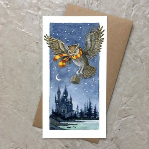 Castle Owl Card