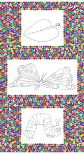 Very Hungry Caterpillar Coloring Panel Fabric