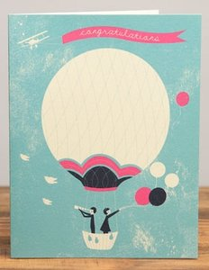 Jill Labieniec Card - Congrats from Above