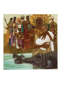 Leo and Diane Dillon Postcard - Ashanti to Zulu