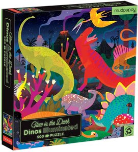 Dinos Illuminated 500 pc Puzzle