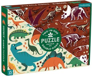 Dinosaur 2-in-1 Puzzle (100 pieces)