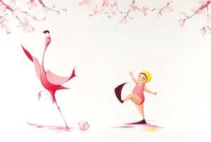 Postcard-Flora and the Flamingo