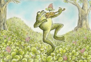 Arnold Lobel Postcard - Frog with Fiddle