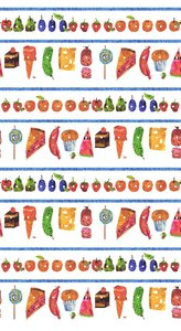 Fruit and Junk Food Fabric