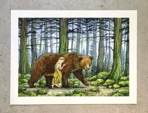 Astrid Sheckels Print - The Girl and the Bear