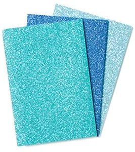 Glamtastic Glitter Notebook - Blue Assorted
