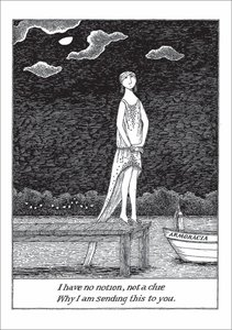 Edward Gorey Card - I Have No Notion