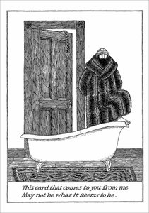 Edward Gorey Card - To You From Me