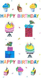 Happy Birthday Panel Fabric