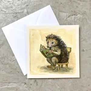 Reading Hedgie Mini Enclosure Card