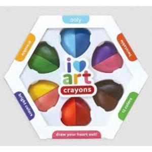 I Heart Art Erasable Crayons