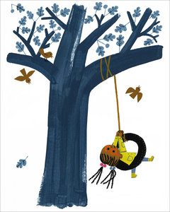Christian Robinson Print - Tire Swing